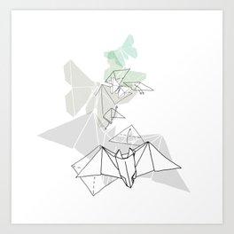 Bats & Moths Art Print