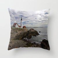 maine Throw Pillows featuring Maine Splendor by Catherine1970