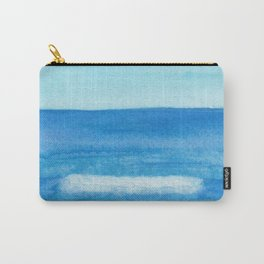 Cobalt Sea Wave Carry-All Pouch