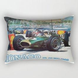 Gran Prix de Monaco, 1968, original vintage poster Rectangular Pillow