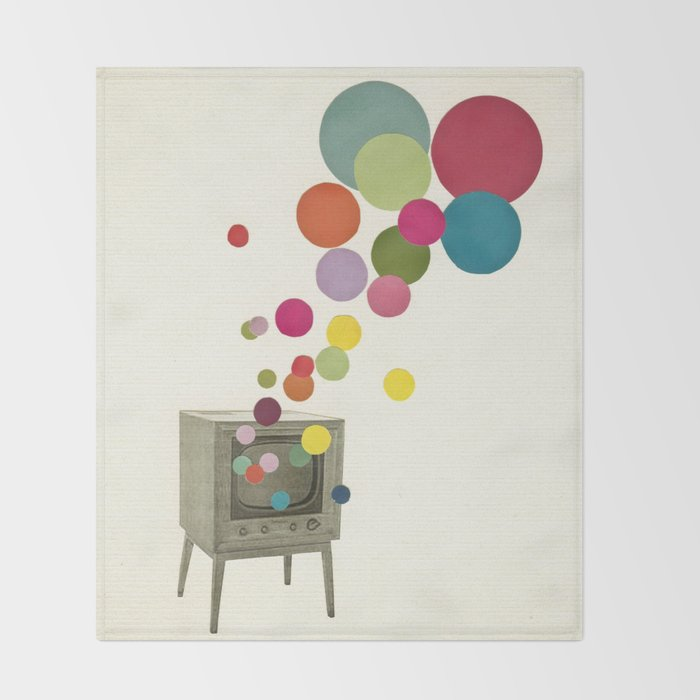 Colour Television Throw Blanket