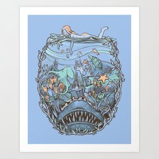 What Lurks Beneath Art Print
