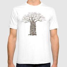 Zebra Tree MEDIUM Mens Fitted Tee White