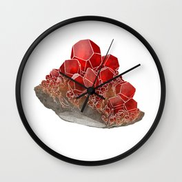 Garnet- January birthstone crystal gemstone specimen painting Wall Clock