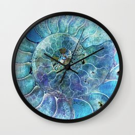 Aqua seashell - mother of pearl - Beautiful backdrop Wall Clock