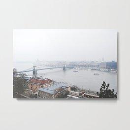 foggy budapest Metal Print