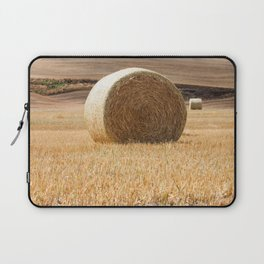 Wheat Bale Photography Print Laptop Sleeve