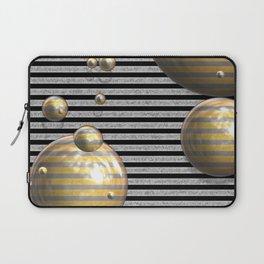 Striped Bubbles Laptop Sleeve