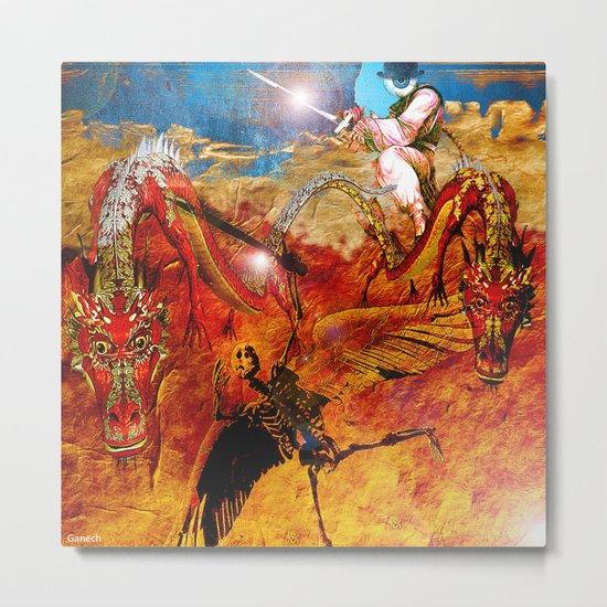"Monsieur Bone "" The guardian of the abysse"". Metal Print"