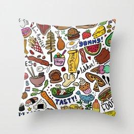 Foodies Throw Pillow