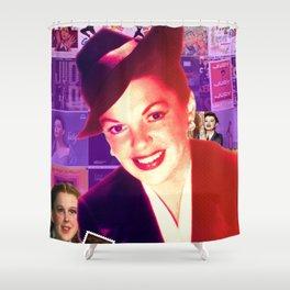 Judy Garland Collage Portrait Shower Curtain