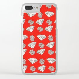 Ice Cream Diamond X Dolla Signs Clear iPhone Case