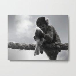 London Monkey Sock Metal Print