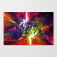 chaos Canvas Prints featuring Chaos by Robin Curtiss