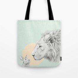Lion and Bunny Tote Bag