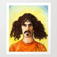 zappa Art Prints featuring Frank Zappa by IamDeirdre