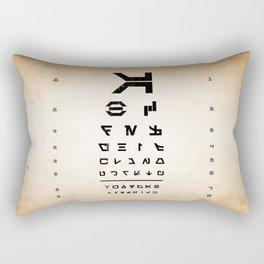 Aurebesh Eye Chart Rectangular Pillow