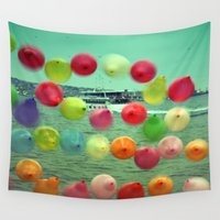 istanbul Wall Tapestries featuring balloons in Istanbul by gzm_guvenc