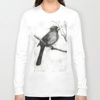 cardinal Long Sleeve T-shirts featuring Cardinal by Rebecca Joy - Joy Art and Design