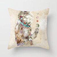 spaceman Throw Pillows featuring spaceman by bri.buckley