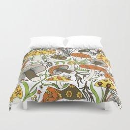 Hand-drawn Mushrooms Duvet Cover