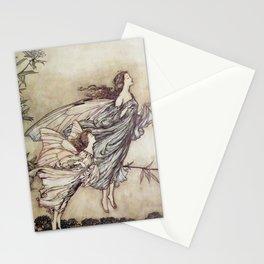 """Fairies Tiff with the Birds"" by Arthur Rackham Stationery Cards"