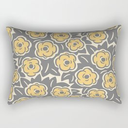 Flower Bouquets Gray Yellow and Beige 225 Rectangular Pillow