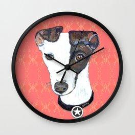 Greyhound Portrait Wall Clock