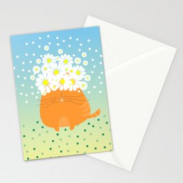 cat&flowers Stationery Cards