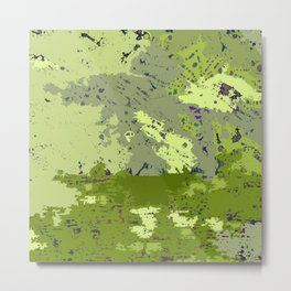 Almost Camouflage, Almost Military Map Metal Print