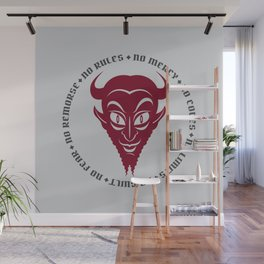 Devil Face Wall Mural