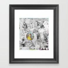 Décollage °Urbana^ Mono85 Framed Art Print