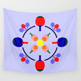 Table Tennis Design Wall Tapestry