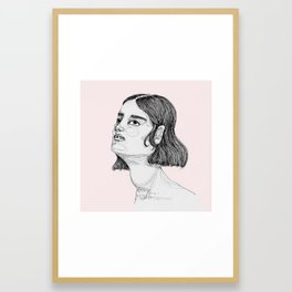 She's Looking Up Framed Art Print