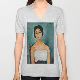 Amedeo Modigliani - Christina Unisex V-Neck