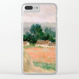 Haystack at Giverny by Claude Monet Clear iPhone Case