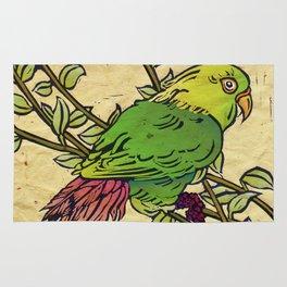 Parrot Linocut Rug