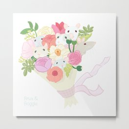 Rat Bouquet Metal Print