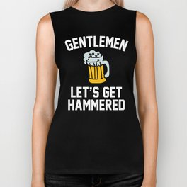 Gentlemen Let's Get Hammered Bachelor Party Biker Tank