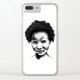 Afeni Girl Clear iPhone Case