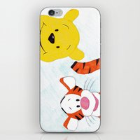 tigger iPhone & iPod Skins featuring winnie the pooh and tigger by Art_By_Sarah