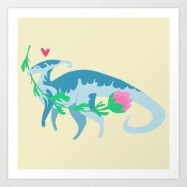 I Love You, Parasaurolophus Art Print