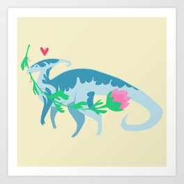 I Love You, Parasaurolophus Art Print