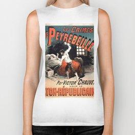Vintage poster - Les Crimes de Peyrebeille Biker Tank