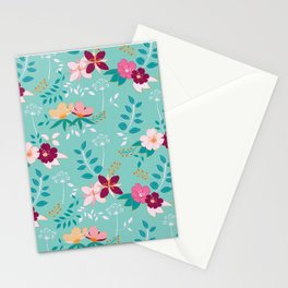 Exotic Flower Pattern Stationery Cards