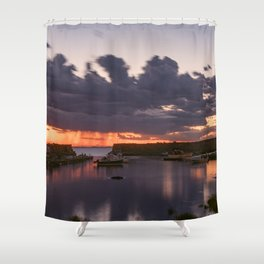 Rainy Lanescove Sunset Shower Curtain