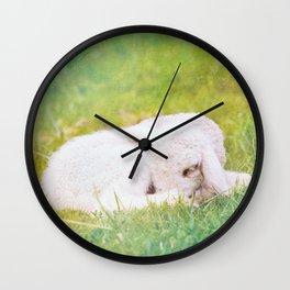Sleeping Little Lamb Wall Clock