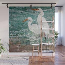 Egrets Wall Mural