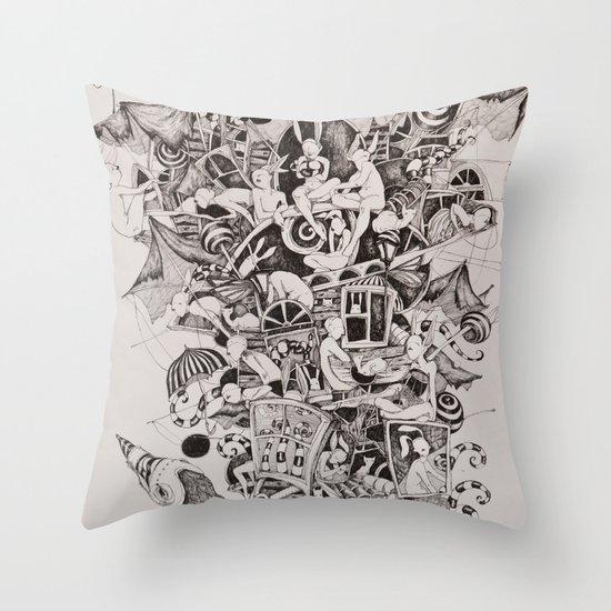 Flighless bird Throw Pillow