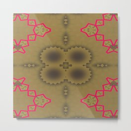 Pinkbrown(blue) Pattern 5 Metal Print